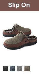 longbay mens slip on slippers