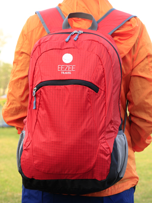 Red EEZEE 28L Ultralight Portable Foldable Dry Backpack Lightweight Waterproof Daypack for Adult Teen Sport Travel Camping Hiking Backpacking