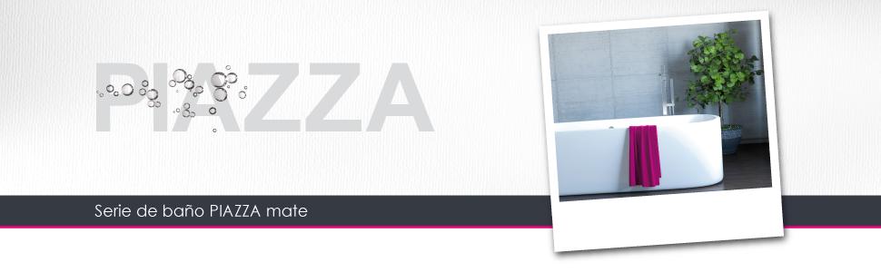 Soporte en esquina bremermann/® de la serie de ba/ño PIAZZA en acero inoxidable mate y cristal
