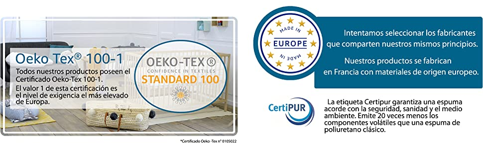 blanco, PUNTO LISO 80 x 40 cm Protector impermeable y transpirable para colch/ón COCHE//MOISES//CAPAZO