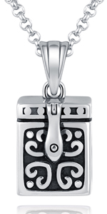 silver urn jewelry necklace