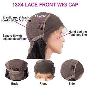 13x4 lace front wig cap