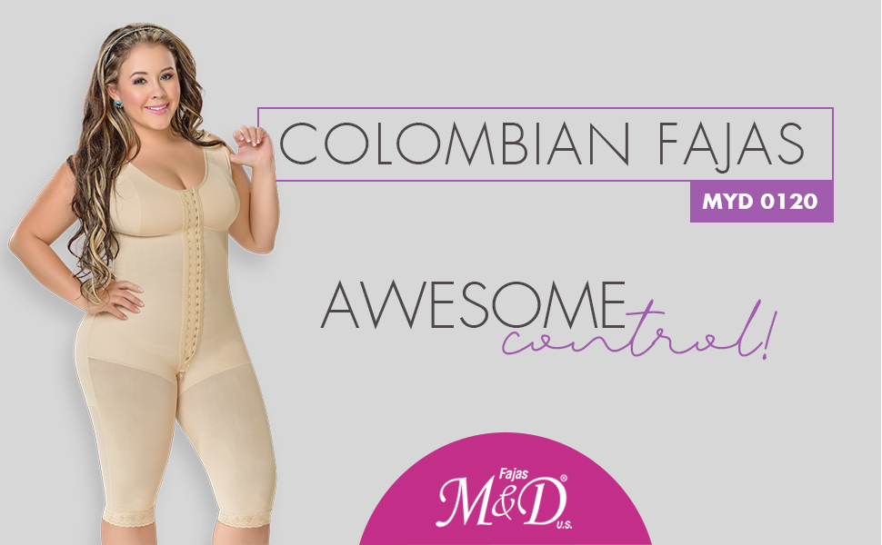 M&D 0120 Fajas Colombianas Reductoras Postparto Post Surgery Compression Garment