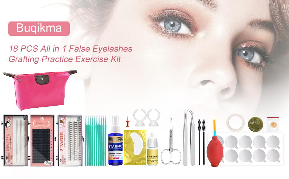 false eyelash extension kit