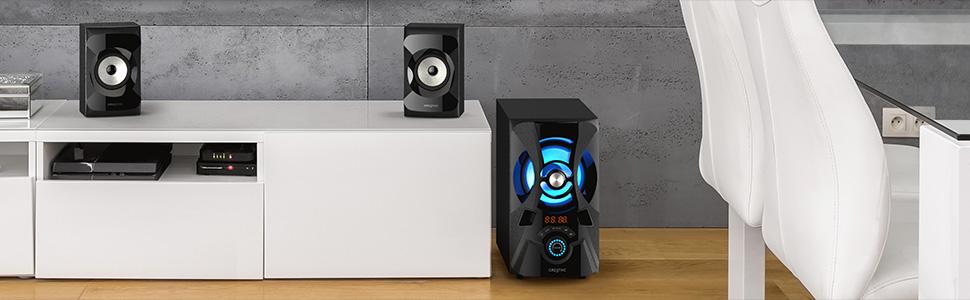 Creative SBS E2900 set in a modern living room