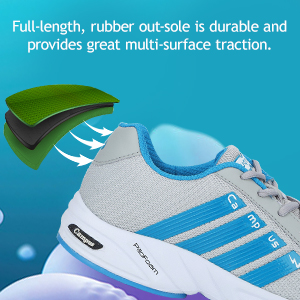 Full length, Rubber Out-Sole is Durable Provide Great