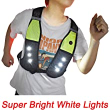 reflective running vest with led lights