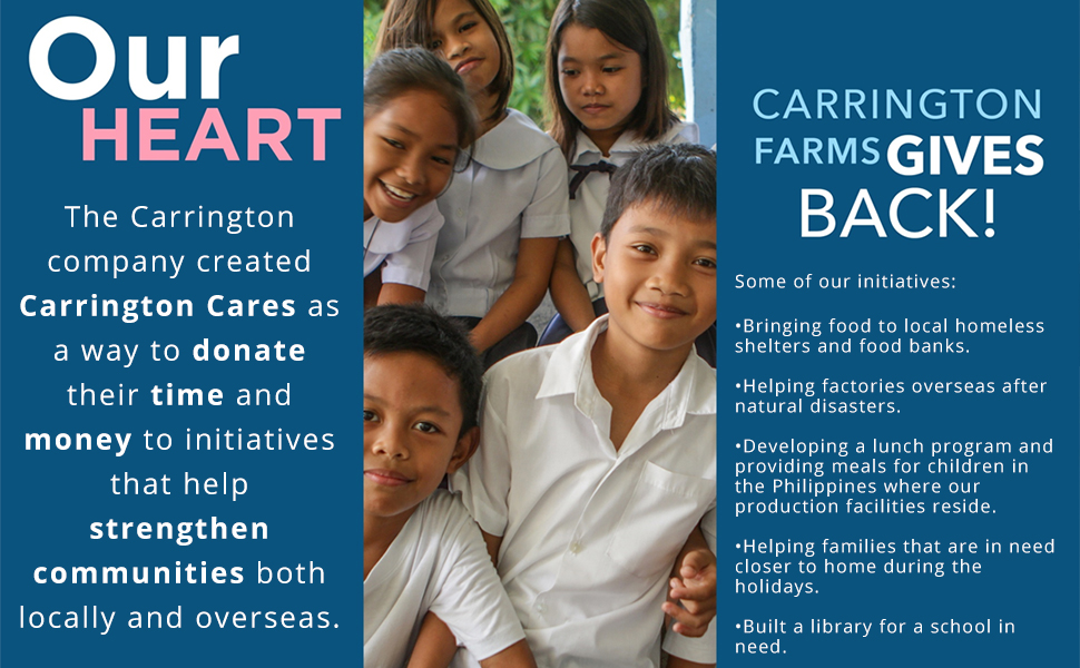 Carrington Farms Gives Back to The Community