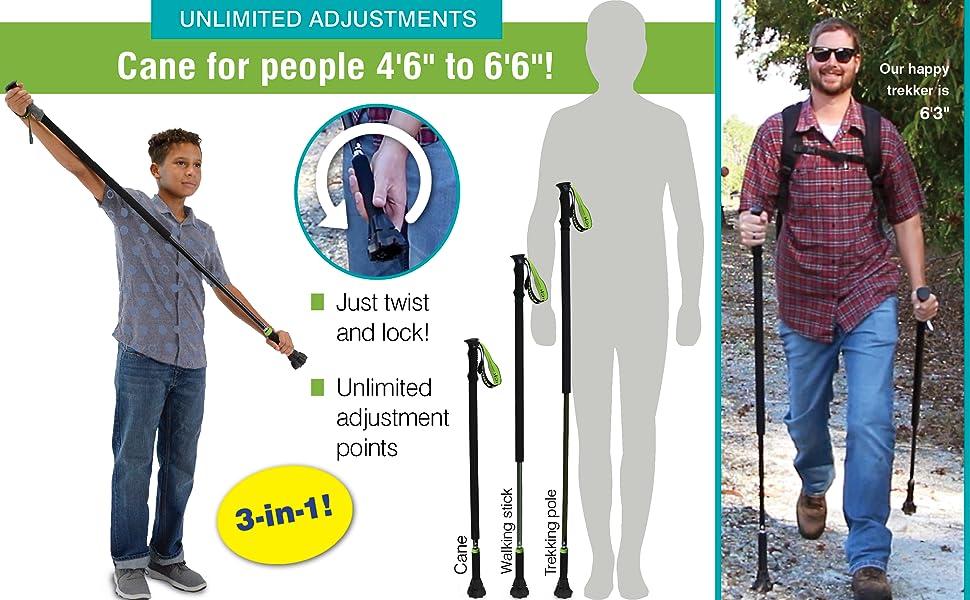 PRIME STICK walking cane trekking pole walking stick