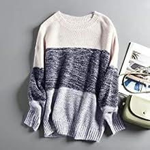 Crewneck Striped Pullover Sweater