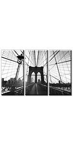 wall art office new york painting picture brooklyn bridge canvas city skyline decor bedroom poster