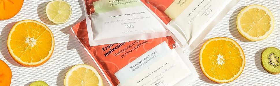 Bindly - Transglutaminasa GS - 100 gr - Para Reestructurar Alimentos - Ideal para Carnes de Ave o Pescado - Para Alimentos Ricos en Proteínas - ...