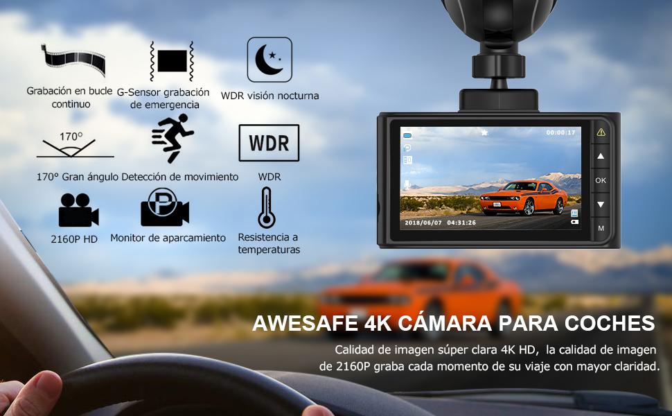 cámara de coche grabadora