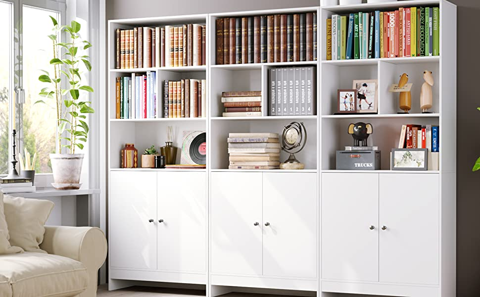 Homfa Estantería Libros Librería Pared Armario Almacenaje ...