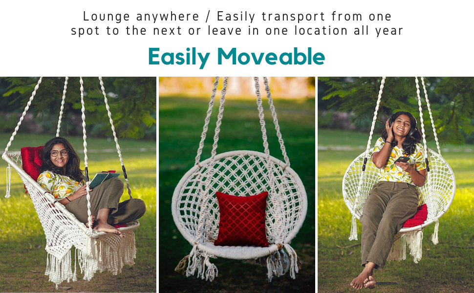 Patiofy (Made in India) Large Size Swing Chair
