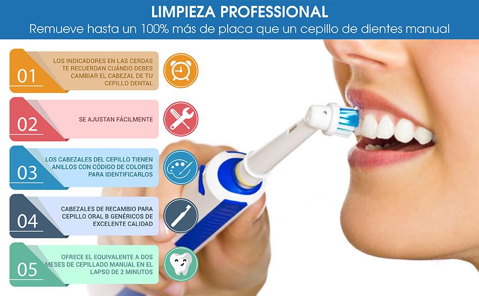Cabezales Oral B Para Niños de Milos/Paquete de 8 Cabezales de Recambio Oral B Infantil para Cepillo de Dientes Eléctricos Junior: Amazon.es: Salud y cuidado personal