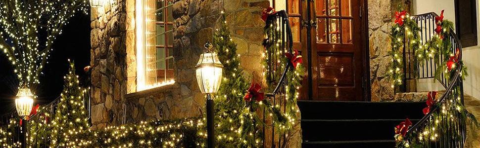 Elegear Cortina de Luces 4M Cascadas de Luces Navidad End-to-End IP44 Impermeable, 8 Modos para Navidad,Fiestas,Bodas,Dormitorio,Jardines, Bar: Amazon.es: Iluminación
