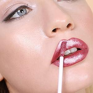 mauve metallic matte lipstick long wear kissproof high shine