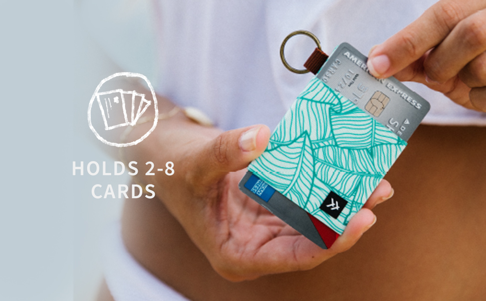 holds cards, elastic wallet, slim wallet, wallet, stylish wallet