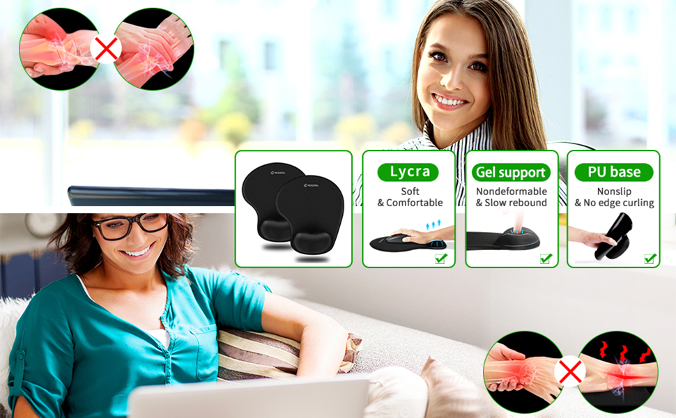soqool mouse pad with wrist support