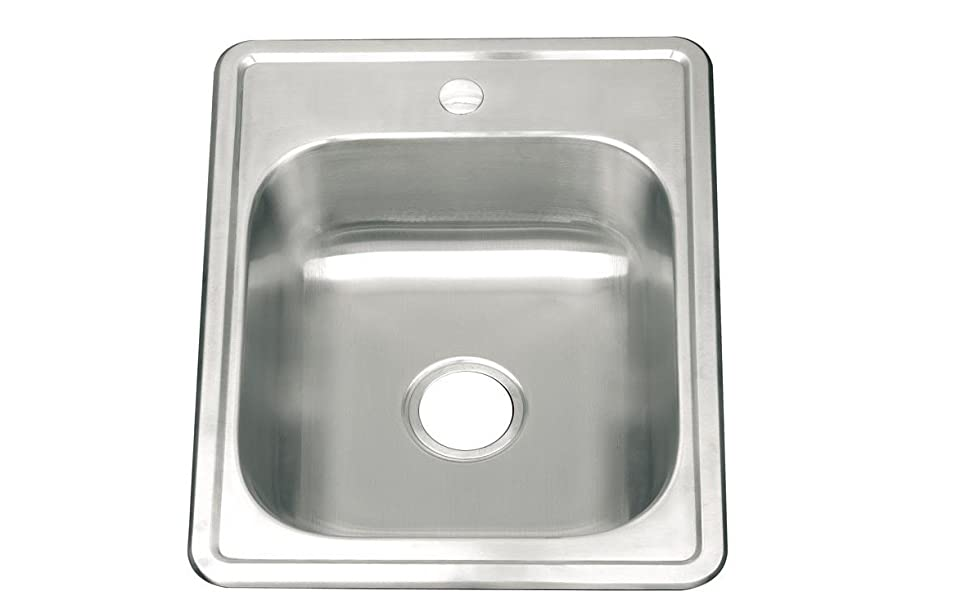 Grand Taps Small Single Bowl Matt Brushed Stainless Steel Inset Mount Kitchen Sink 558x432mm A82 Bs Amazon Co Uk Diy Tools