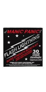 Flash Lightning Hair Bleaching Kit- 30 Volume Cream Developer