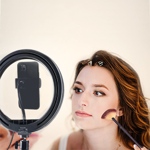"""10"""" Selfie Ring Light with Tripod Stand & Cell Phone Holder provide plenty of brightness to makeup"""