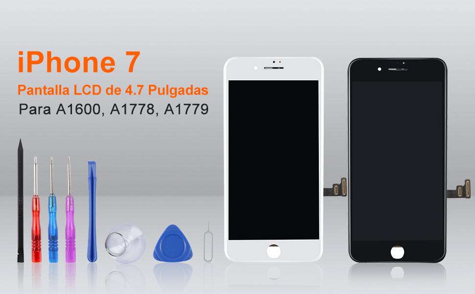 Beefix Pantalla Táctil LCD Reemplazo para iPhone 7 con Protector ...