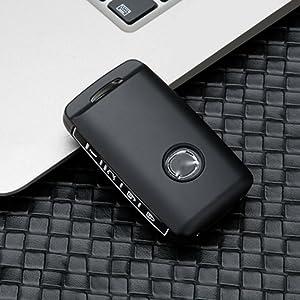 Ontto 3 Tasten Autoschlüssel Hülle Cover Für Mazda 3 Alexa Cx 30 2019 2020 Cx 5 Cx 8 2020 Schlüsselhülle Schlüsselanhänger Zinklegierung Gummi Schlüssel Schutz Etui Fernbedienung Schwarz Weiß Auto