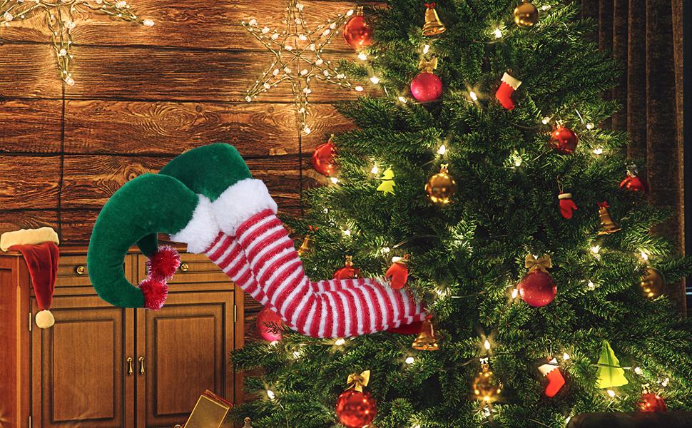 20'' Elf Legs for Christmas Tree Decor