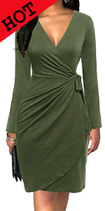 women wrap dress