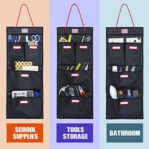 A great locker organizer helper for organizing school supplies, garage tools, kitchen bathroom items