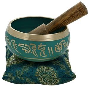 """Shalinindia Green 4"""" Inch singing Bowl"""