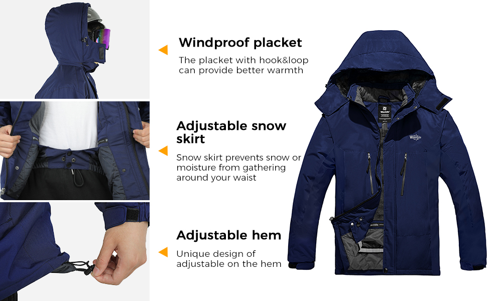 Wantdo Mens Skiing Jacket