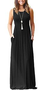 Sleeveless women's maxi dress for summer