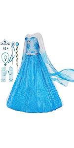 Snow Queen Costume, Blue