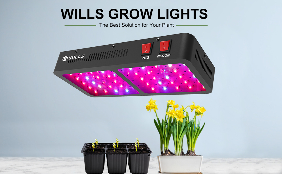 Amazon.com : WILLS Upgraded Grow Light 600W Full Spectrum LED Grow Lights  Veg&Bloom LED Plant Lighting for Seeding Flowering Indoor Plant Greenhouse  Growing(10W 60PCs) : Garden & Outdoor