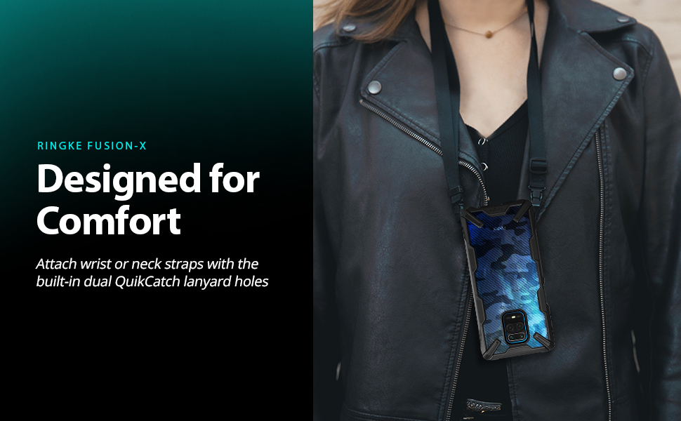Ringke Fusion X Case Designed for Xiaomi Redmi Note 9 Pro, Xiaomi Redmi Note 9 Pro Max (2020)