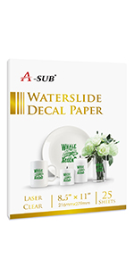 water slide decal paper laser clear