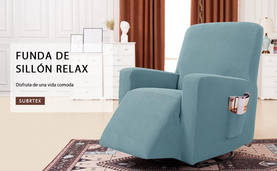 subrtex Funda de Sillón Relax Elástica Completo Protector ...