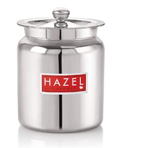 Hazel Stainless Steel Oil/Ghee Storage Container,milk,utility container,dabba,dibbi,copper,pooja