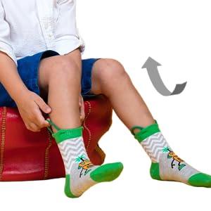 Boys toddler easy pull up socks