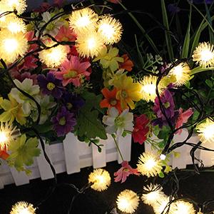 Solar Hairball String Lights