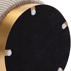 Duhome Modern Round Velvet Ottoman Footrest Vanity Stool…