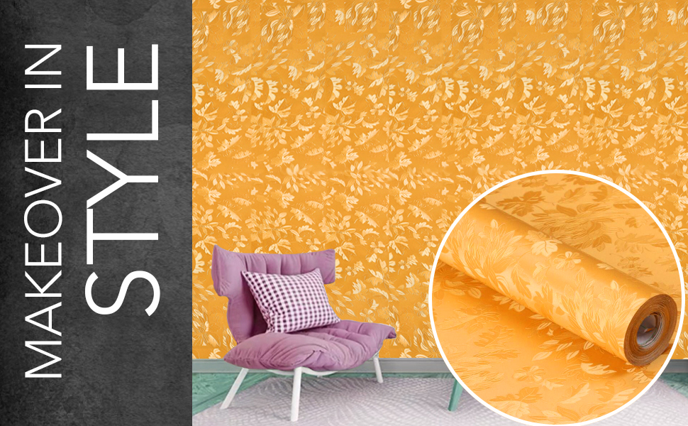 gold wall stickers wallpapers for hall living room, latest, textured, DIY self-adhesive decal