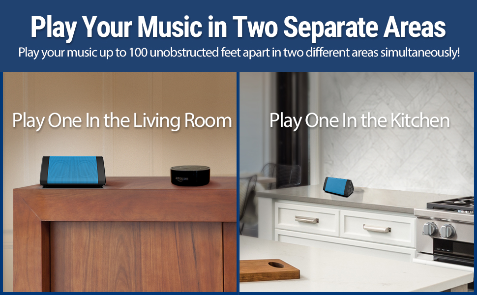 OontZ Angle 3 bluetooth speaker blue 100 ft wireless range dual speaker system sound separation