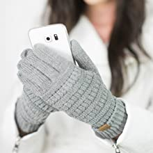 touchscreen compatible texting gloves smartphones