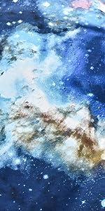 3D Blue Galaxy Sky Floor Futon Mattress
