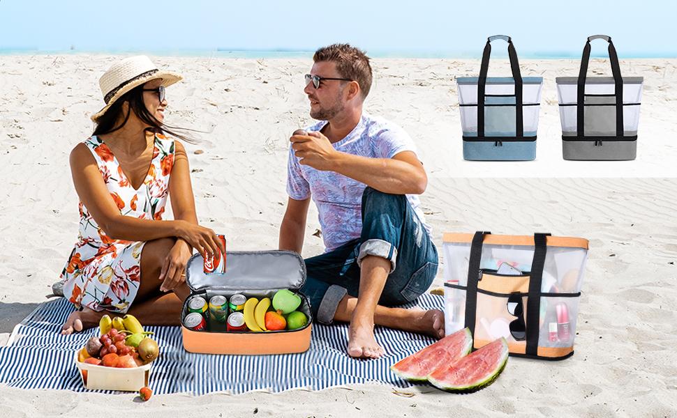 Bolsa de playa desmontable 2 en 1
