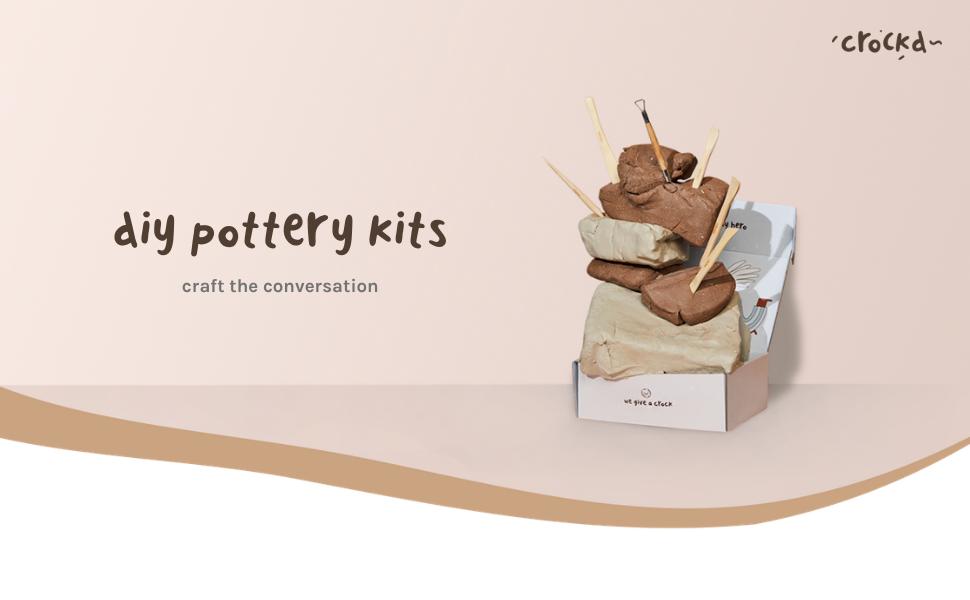 Crockd DIY Pottery Kits - Craft the Conversation